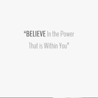 Quote - Believe in the power