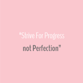 Quote - Strive for progress