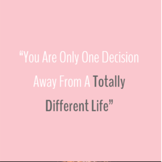 Quote - Totally different life